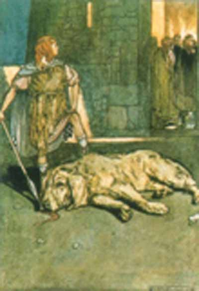 Cuchullain kills Cullan the blacksmith's hound